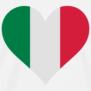 A Heart for Italy Long sleeve shirts - Men's Premium T-Shirt