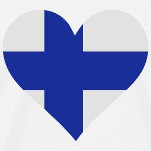 A heart for Finland Bags & Backpacks - Men's Premium T-Shirt