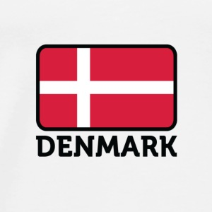 Nationale vlag van Denemarken Tops - Mannen Premium T-shirt
