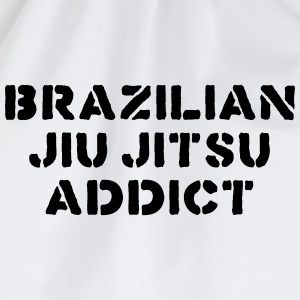 brazilian jiu jitsu addict 01 bjj - Drawstring Bag