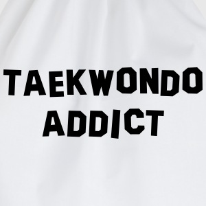 taekwondo addict 01 - Drawstring Bag