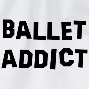 ballet addict 01 - Drawstring Bag