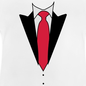 Din privata Tuxedo Suit Långärmade T-shirts - Baby-T-shirt