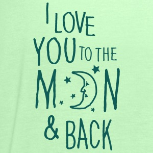 Kraftig mint I LOVE YOU TO THE MOON & BACK T-shirts - Dame tanktop fra Bella