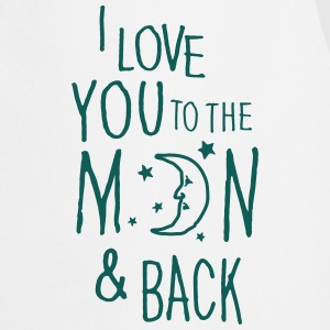Gråmelert I LOVE YOU TO THE MOON & BACK Skjorter - Kokkeforkle