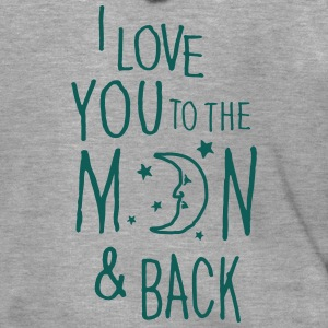 I LOVE YOU TO THE MOON & BACK Shirts - Men's Premium Hooded Jacket