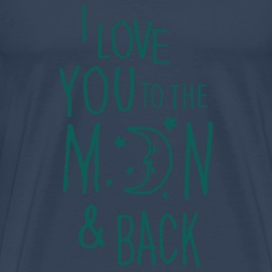 I LOVE YOU TO THE MOON & BACK Tops - Men's Premium T-Shirt