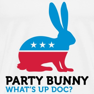Political Party Animals: Bunny Tops - Men's Premium T-Shirt