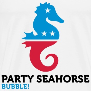 Political Party Animals: Seahorse Tops - Men's Premium T-Shirt
