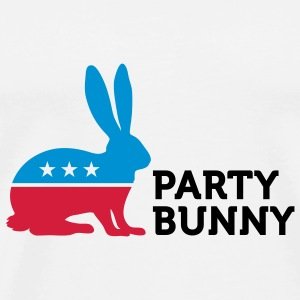 Political Party Animals: Bunny Overig - Mannen Premium T-shirt