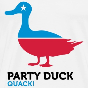 Politiske Party Animals: Duck Babybody - Premium T-skjorte for menn