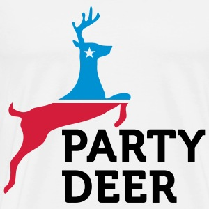 Political Party Animals: Reindeer Tops - Men's Premium T-Shirt