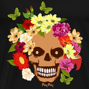 Colourful skull Toppe - Herre premium T-shirt