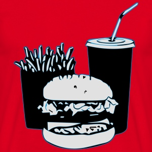 hamburger/frites/cola - T-shirt Homme