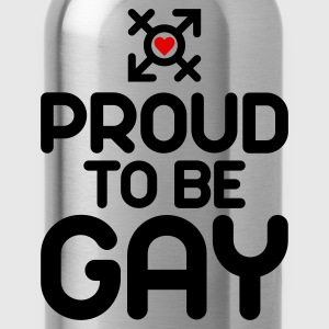 Proud to be Gay (2c) T-Shirts - Trinkflasche