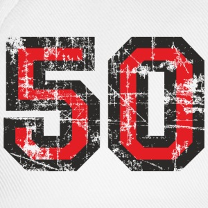 Number 50 Fifty 50th Birthday Design T-Shirts - Baseball Cap