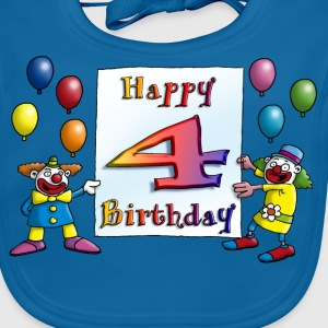 clowns_happy_birthday_a_4 T-Shirts - Baby Bio-Lätzchen