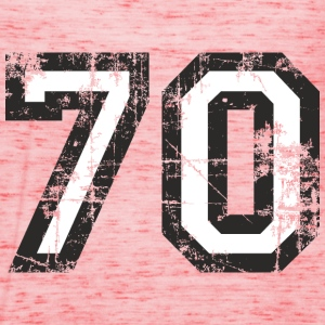 Number 70 Seventy 70th Birthday Design (EU) T-Shirts - Women's Tank Top by Bella
