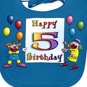 clowns_happy_birthday_a_5 T-Shirts - Baby Bio-Lätzchen