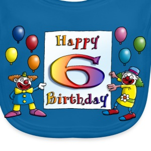 clowns_happy_birthday_a_6 T-Shirts - Baby Bio-Lätzchen