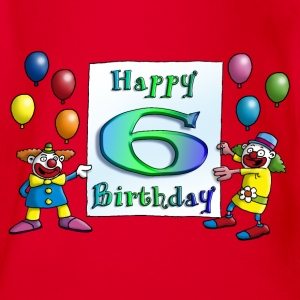 clowns_happy_birthday_b_6 T-Shirts - Baby Bio-Kurzarm-Body