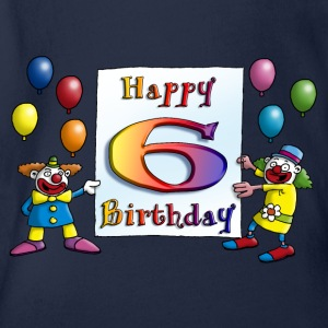 clowns_happy_birthday_a_6 Langarmshirts - Baby Bio-Kurzarm-Body