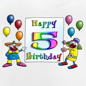 clowns_happy_birthday_c_5 Langarmshirts - Baby T-Shirt