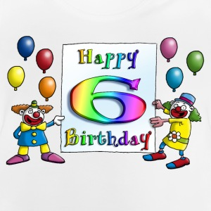 clowns_happy_birthday_c_6 Langarmshirts - Baby T-Shirt
