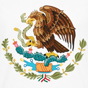 mexico_coat_of_arms T-Shirts - Männer Premium Langarmshirt