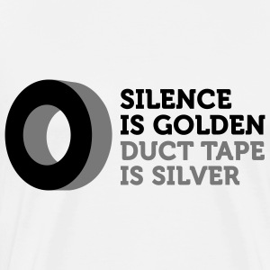 Silence is golden. Duct tape is silver. Long Sleeve Shirts - Men's Premium T-Shirt