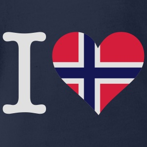 I love Norway Shirts - Organic Short-sleeved Baby Bodysuit