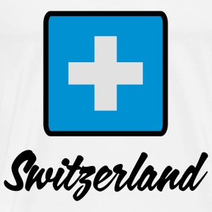 National flag of Switzerland Tops - Men's Premium T-Shirt