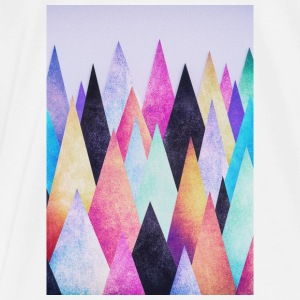 Hipster triangles (geometry) Abstract Mountains  Andet - Herre premium T-shirt