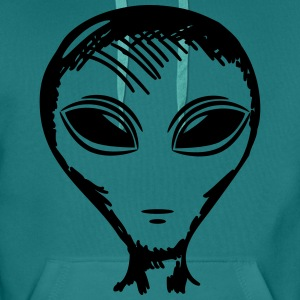 alien face T-Shirts - Men's Premium Hoodie