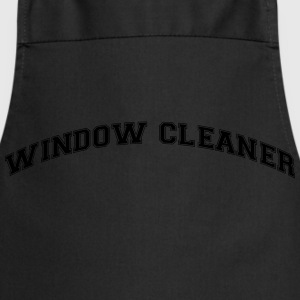 window cleaner college style curved logo - Cooking Apron