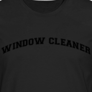 window cleaner college style curved logo - Men's Premium Longsleeve Shirt