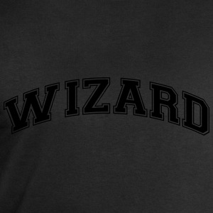 wizard college style curved logo - Men's Sweatshirt by Stanley & Stella