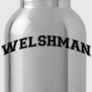 welshman college style curved logo - Water Bottle