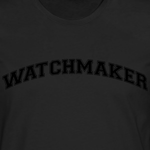 watchmaker college style curved logo - Men's Premium Longsleeve Shirt