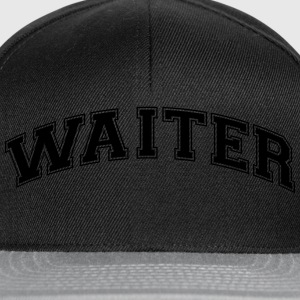 waiter college style curved logo - Snapback Cap
