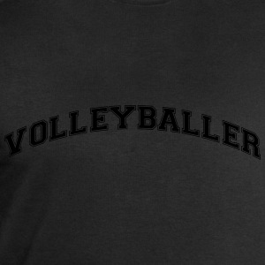 volleyballer college style curved logo - Men's Sweatshirt by Stanley & Stella