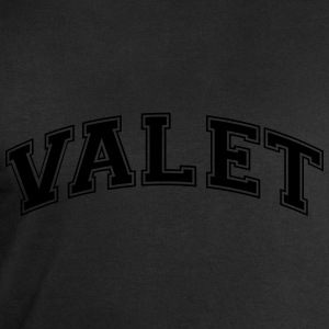 valet college style curved logo - Men's Sweatshirt by Stanley & Stella