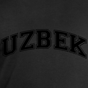 uzbek  college style curved logo - Men's Sweatshirt by Stanley & Stella