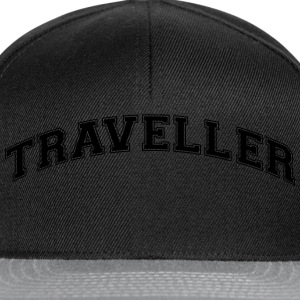 traveller college style curved logo - Snapback Cap