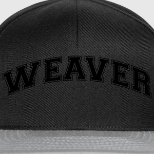 weaver college style curved logo - Snapback Cap