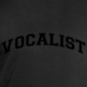 vocalist college style curved logo - Men's Sweatshirt by Stanley & Stella
