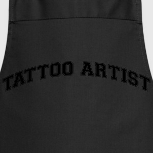 tattoo artist college style curved logo - Cooking Apron