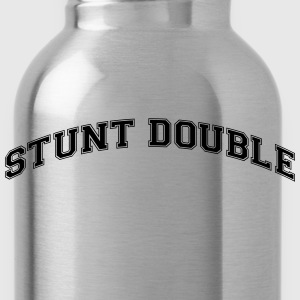 stunt double college style curved logo - Water Bottle