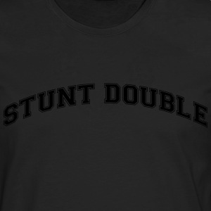 stunt double college style curved logo - Männer Premium Langarmshirt