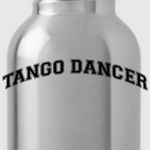 tango dancer college style curved logo - Trinkflasche